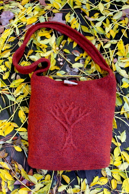 Tree Of Life Felted Bag Daydreamer Knits