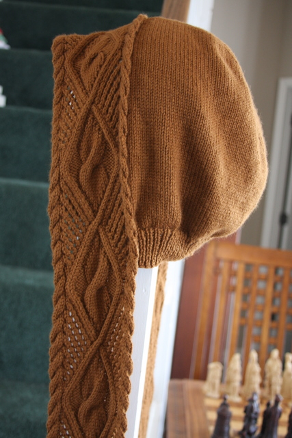 hooded scarf pattern Daydreamer Knits